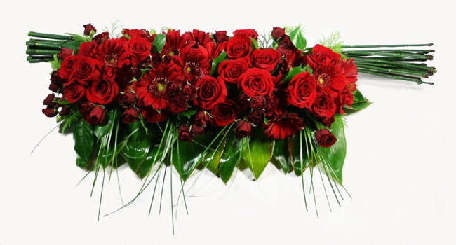 Modern Casket Flower in Red