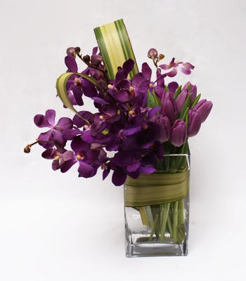 Purple Pizzazz Flower Arrangement