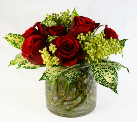 Dalmatian Rose Flower Arrangement