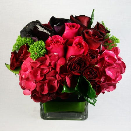 Midnight Romance Flower Arrangement | San Francisco Florist Since 1871 Free Bay Area and San Francisco Flower Delivery