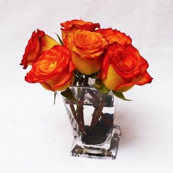 Orange Kisses Flower Arrangement