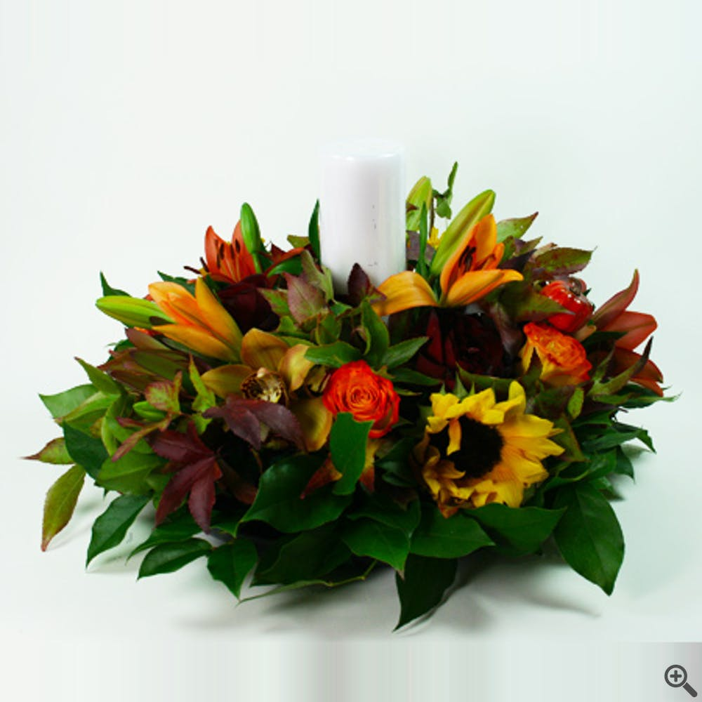 Large Autumn Centerpiece 2 Flower Arrangement