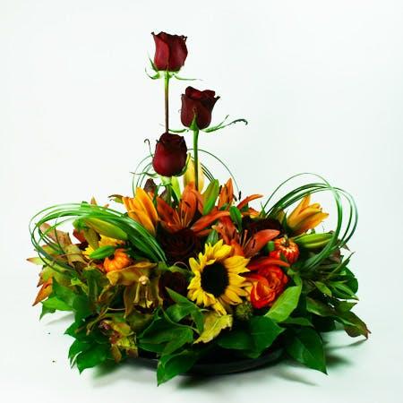 Large Autumn Centerpiece 3 Flower Arrangement 142