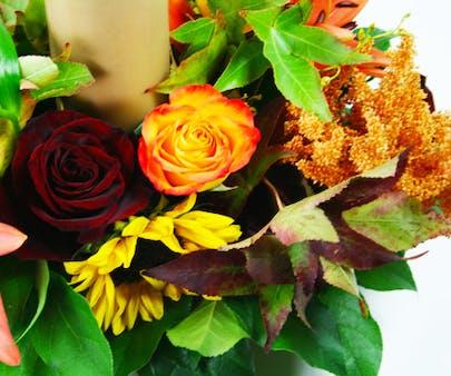 Medio Autumn Centerpiece 1 Flower Arrangement