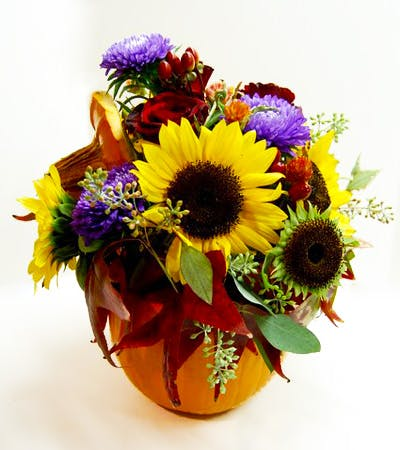 Spiced Pumpkin Flower Arrangement