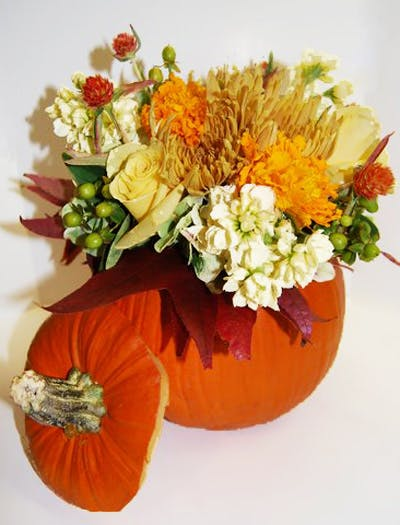 Cinnamon Pumpkin Flower Arrangement