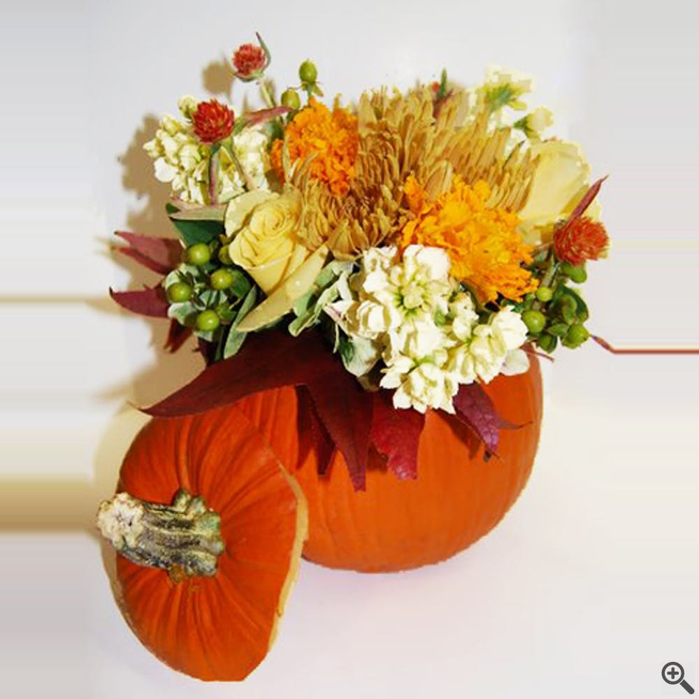 Cinnamon Pumpkin Flower Arrangement