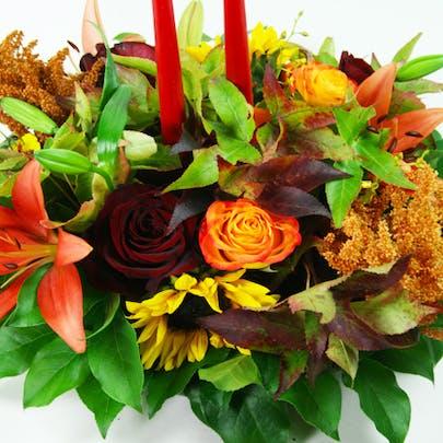 Medio Autumn Centerpiece 2 Flower Arrangement