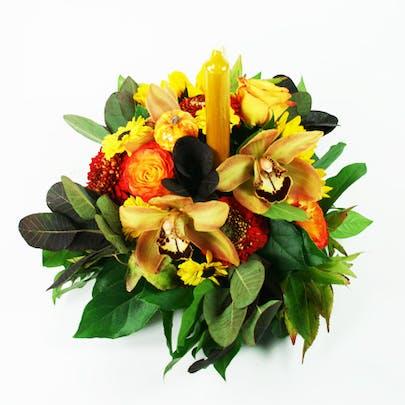 Boutique Autumn Centerpiece Flower Arrangement