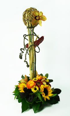 Structured Fall Flower Arrangement