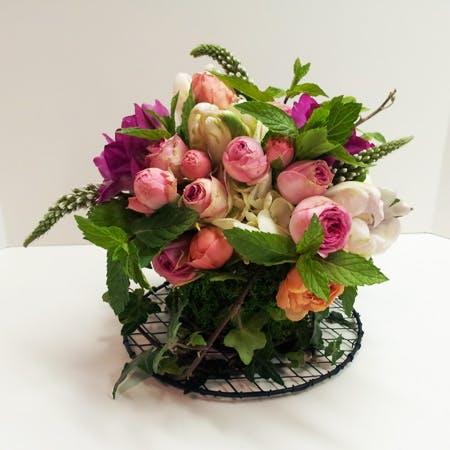 Cup of Tea Flower Arrangement