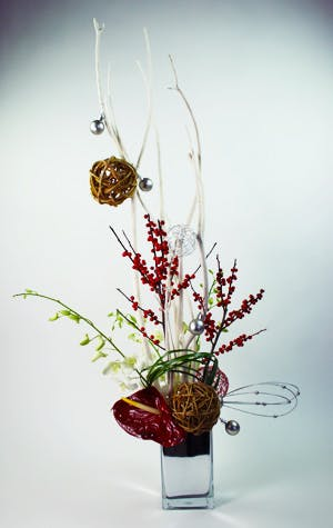 OH! Christmas Tree Flower Arrangement