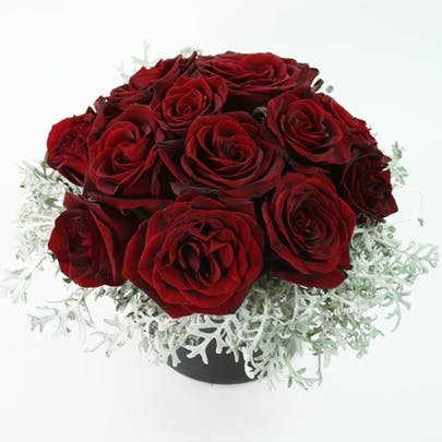 Frosted Roses Flower Arrangement
