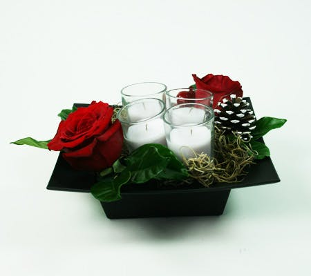 Tea Light Holiday Centerpiece