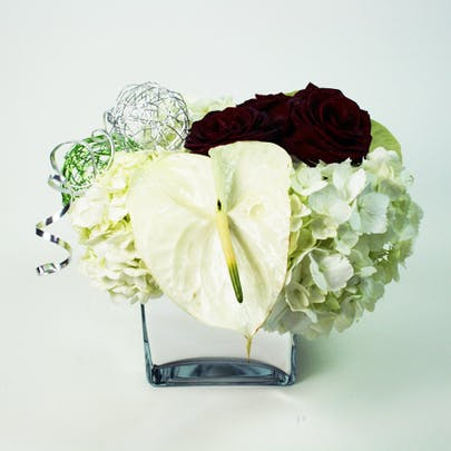 White Christmas Flower Arrangement