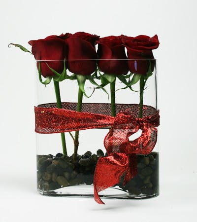 Romantic Roses Flower Arrangement | San Francisco Florist Since 1871 Free Bay Area and San Francisco Flower Delivery