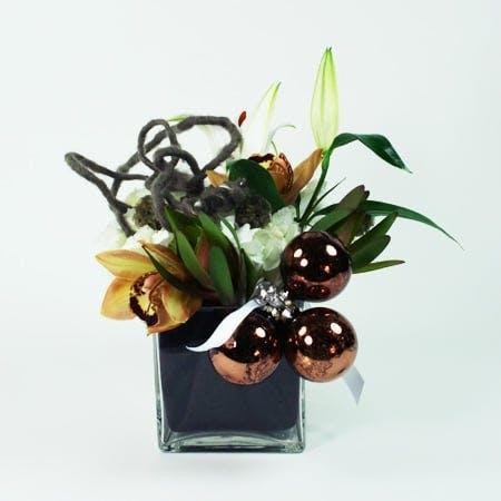 Tangled Christmas Flower Arrangement