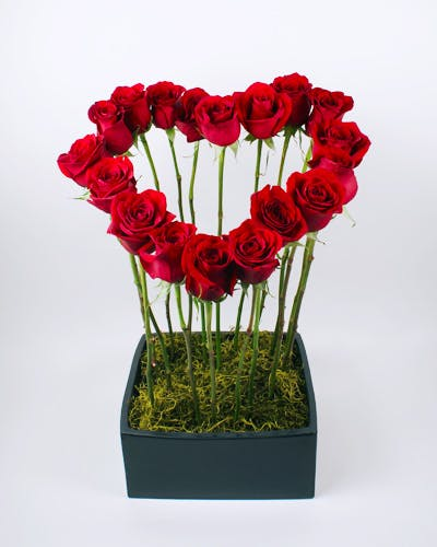 Tapered Heart Flower Arrangement