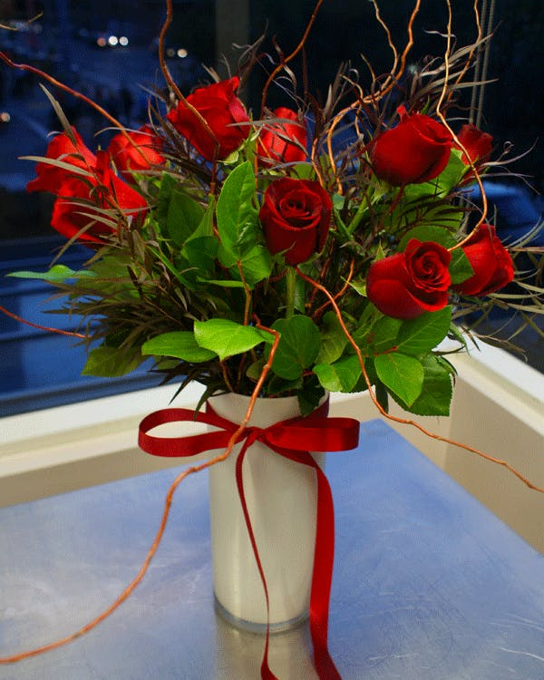 Romantic One Dozen Red Roses | San Francisco Florist Since 1871 Free Bay Area and San Francisco Flower Delivery
