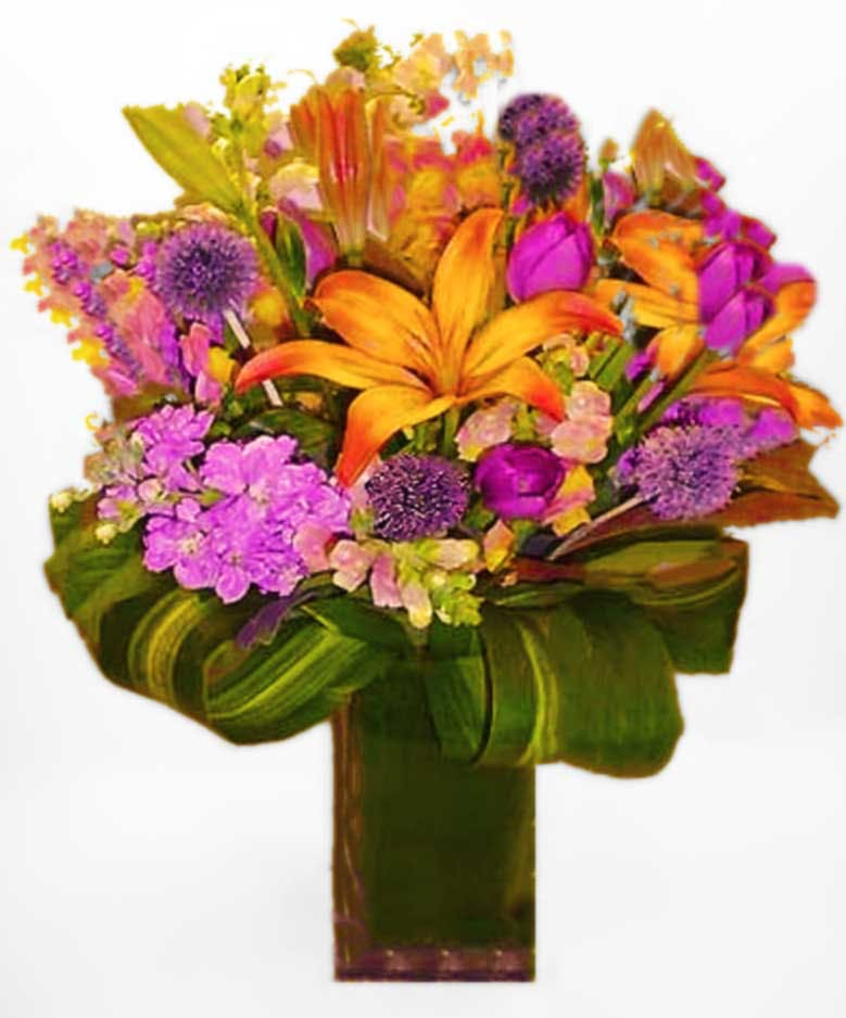 Fountain Style Mix Flower Arrangement