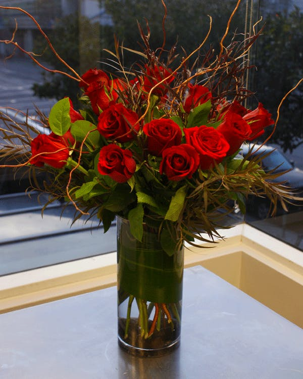 Romantic Two Dozen Red Roses