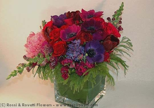 Jewel Toned Hyacinth Blend Flower Arrangement