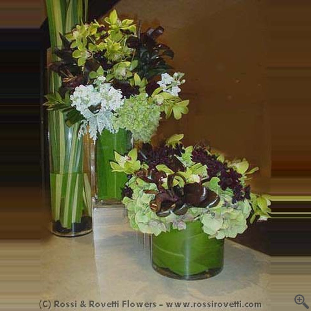 Chocolate & Chartreuse Contrast Design Flowers