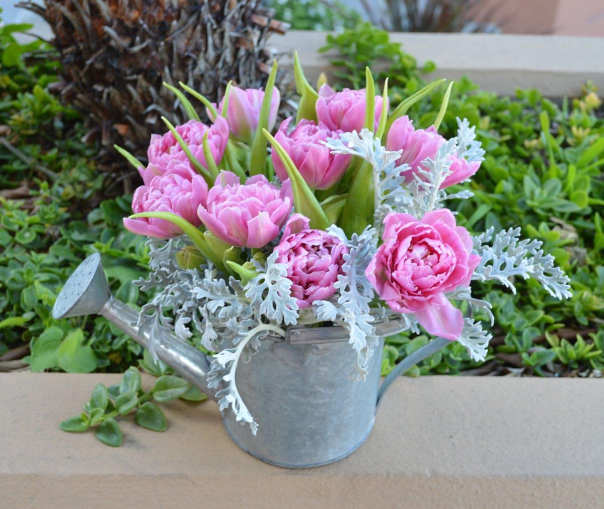 Tulip Can Flower Arrangement