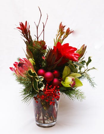 A Tropical Holiday Flower Arrangement
