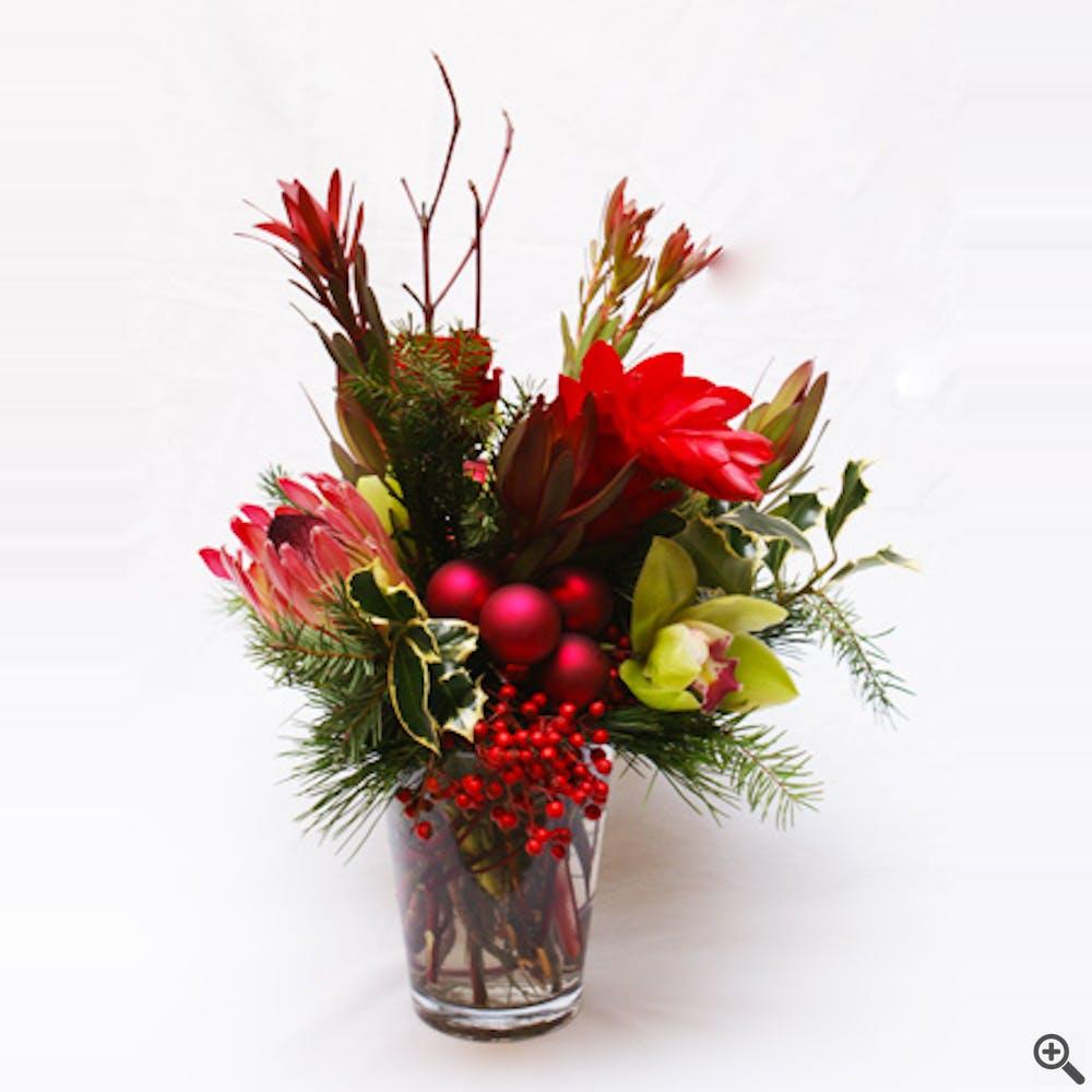 A Tropical Holiday Flower Arrangement