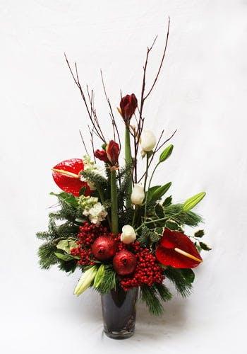 Rockin' Christmas Flower Arrangement