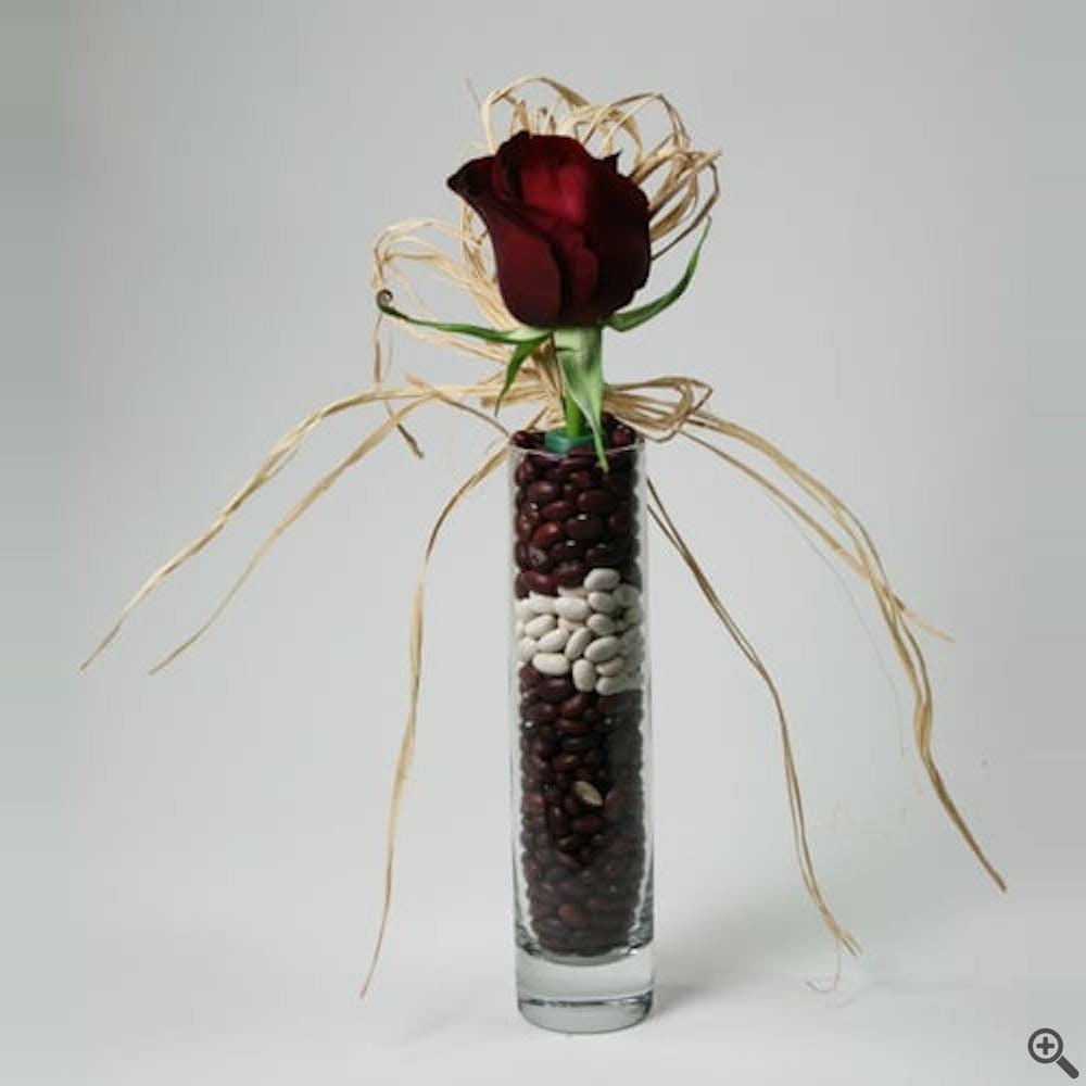 Beans and Reds Flower Arrangement