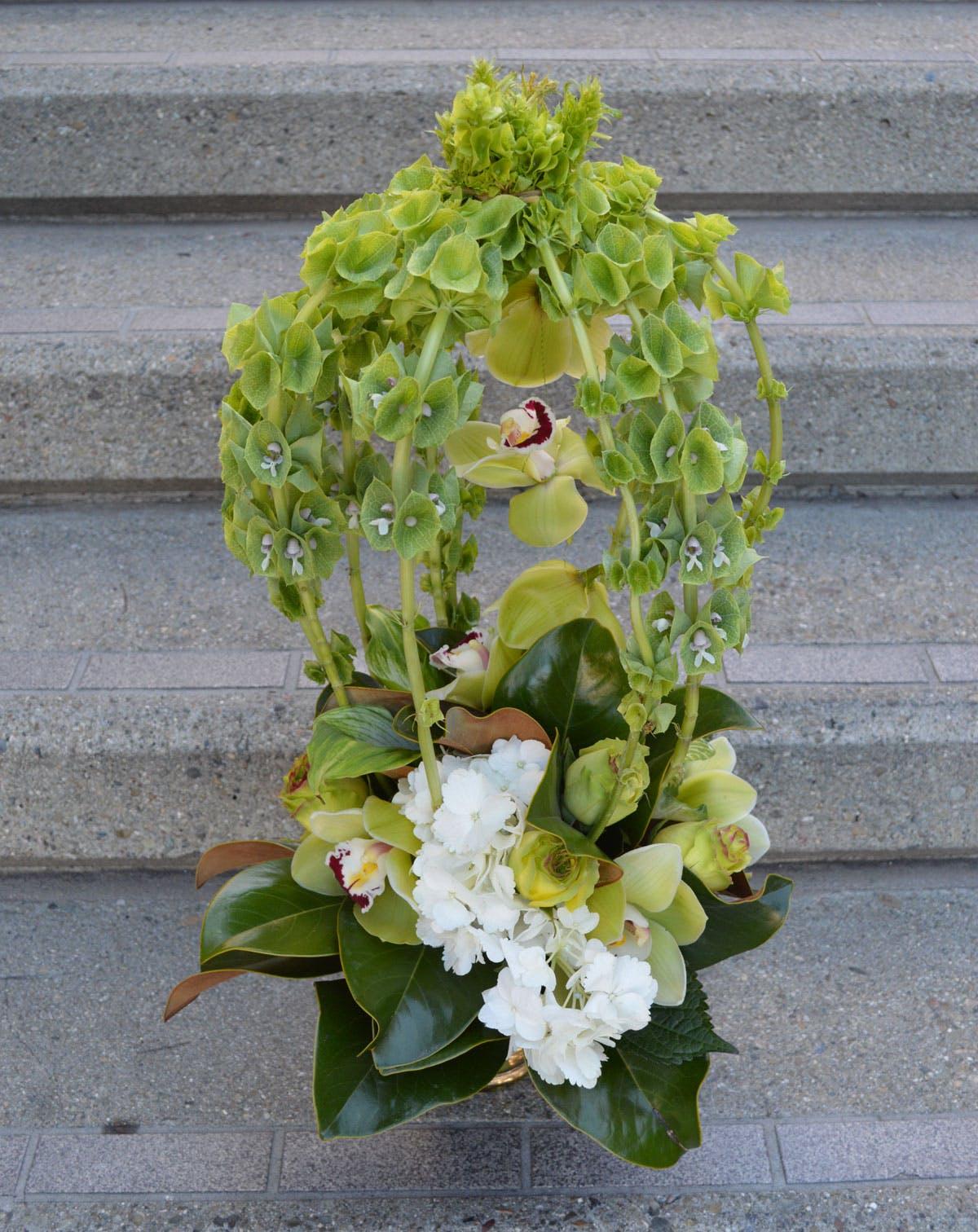 Bellezza Verde Alta Flower Arrangement