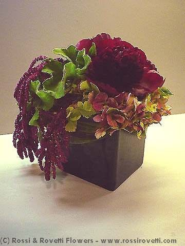 Red Charm Peony Box Flower Arrangement