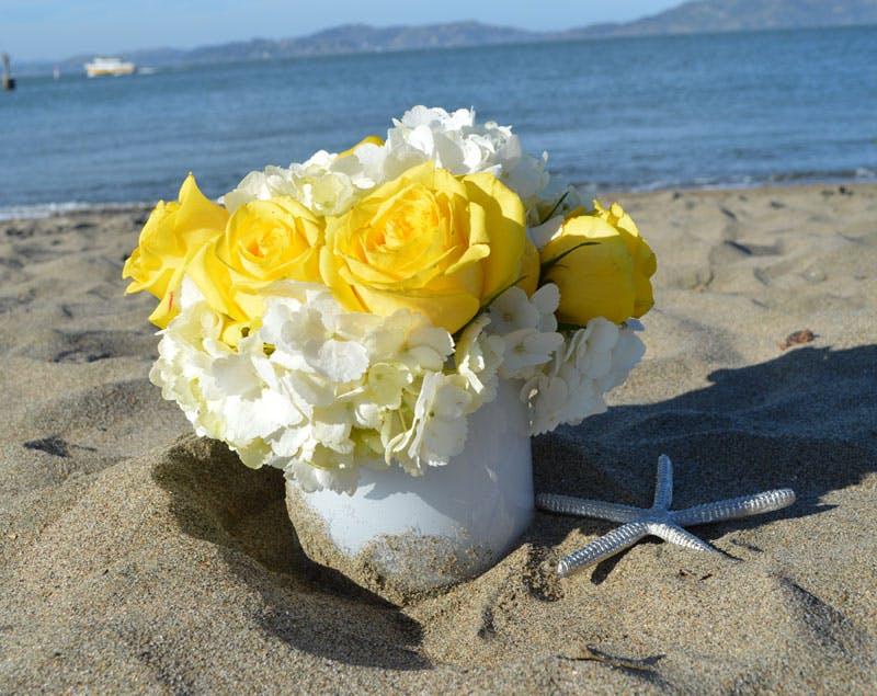 A Canary's Song Flower Arrangement