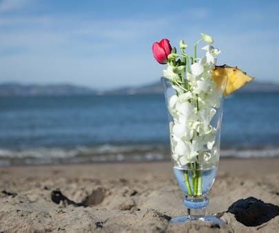 Pina Colada Flower Arrangement