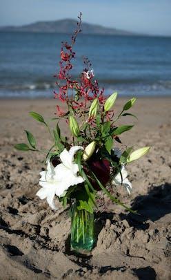 Bottled Lily Flower Arrangement