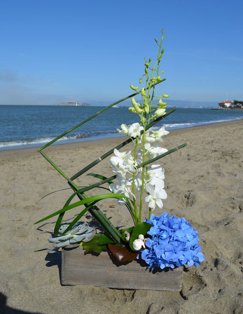 Sailing By the Bay Flower Arrangement