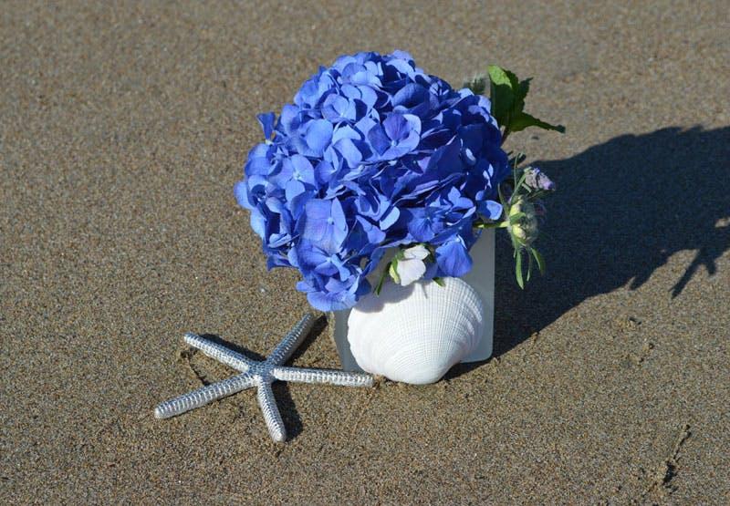 Boutique Blue Flower Arrangement