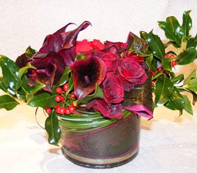 Midnight Holly Flower Arrangement