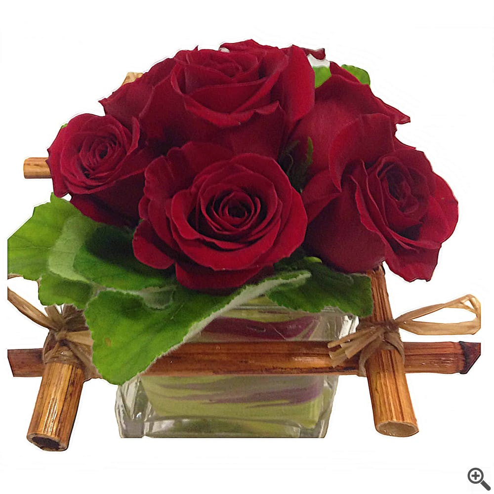 Bamboo Rose Flower Arrangement
