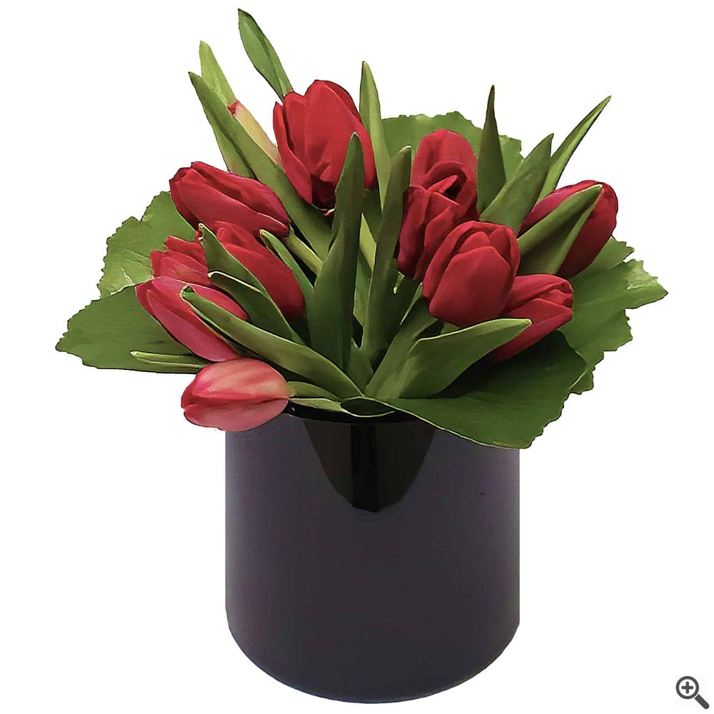 Black Tulip Flower Arrangement