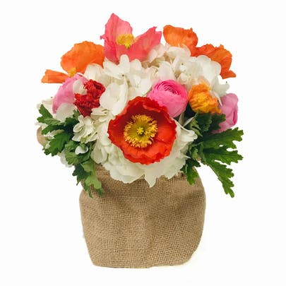 Basket of Poppies Flower Arrangement
