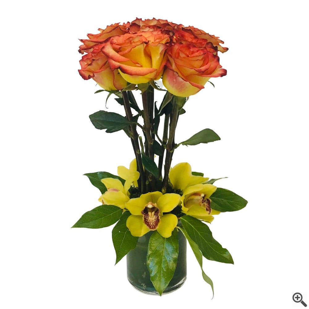 Captured Rose Flower Arrangement