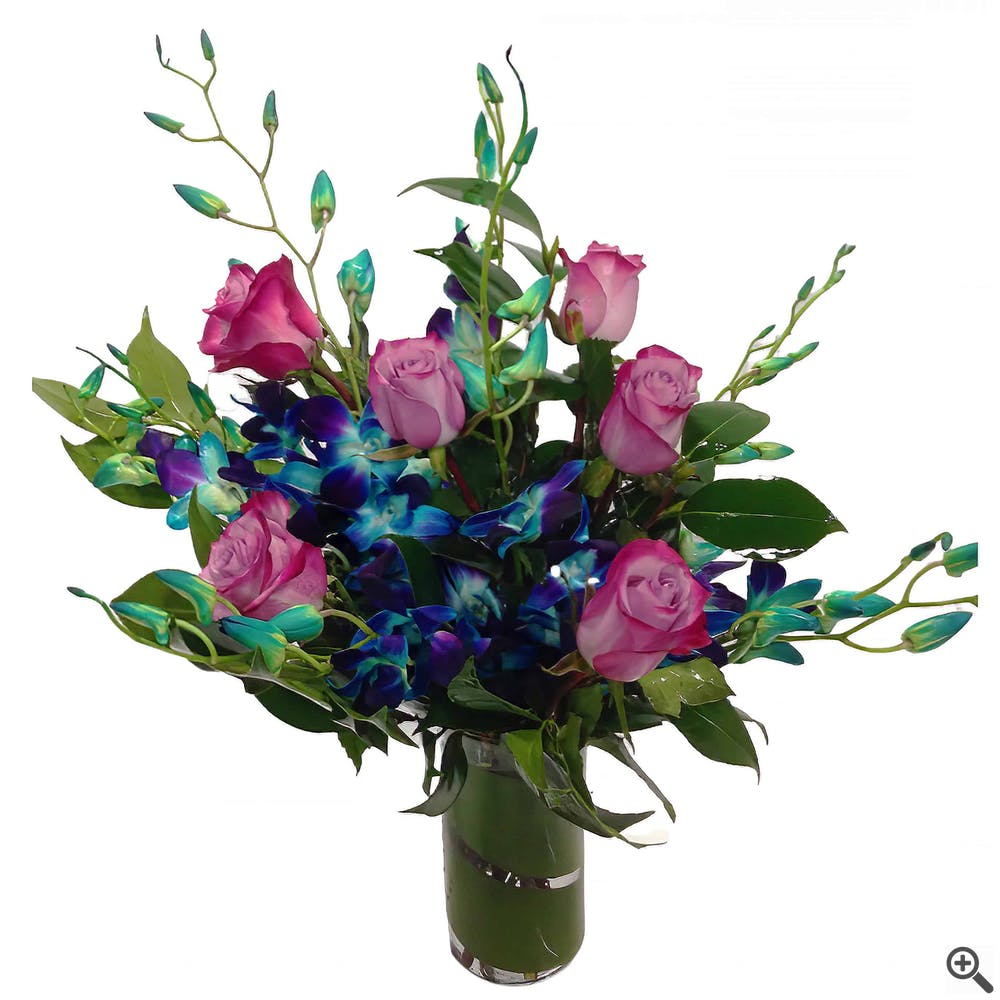 Sky Blue Deluxe Flower Arrangement