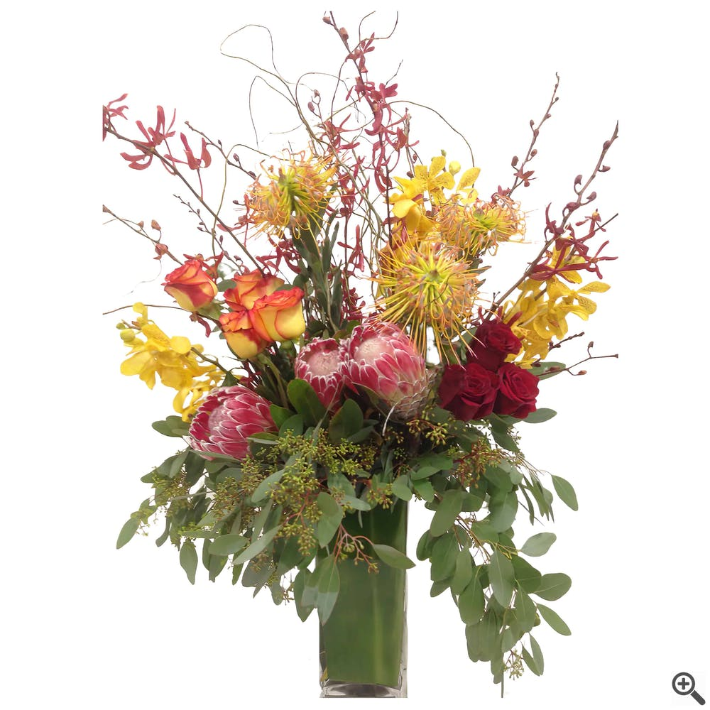 King of Hearts Flower Arrangement