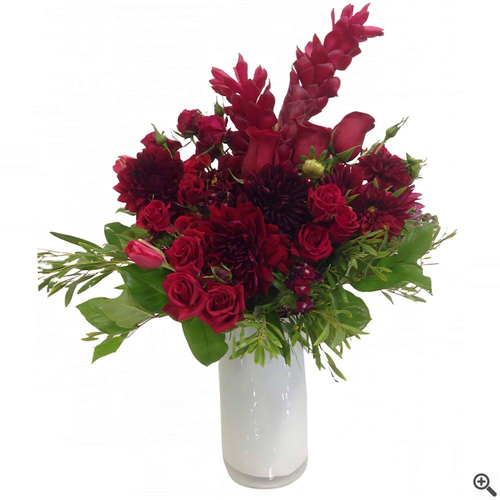 Cardinal Song Flower Arrangement