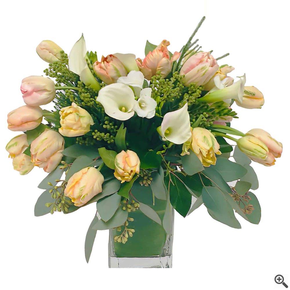Callas and Tulips Arrangement