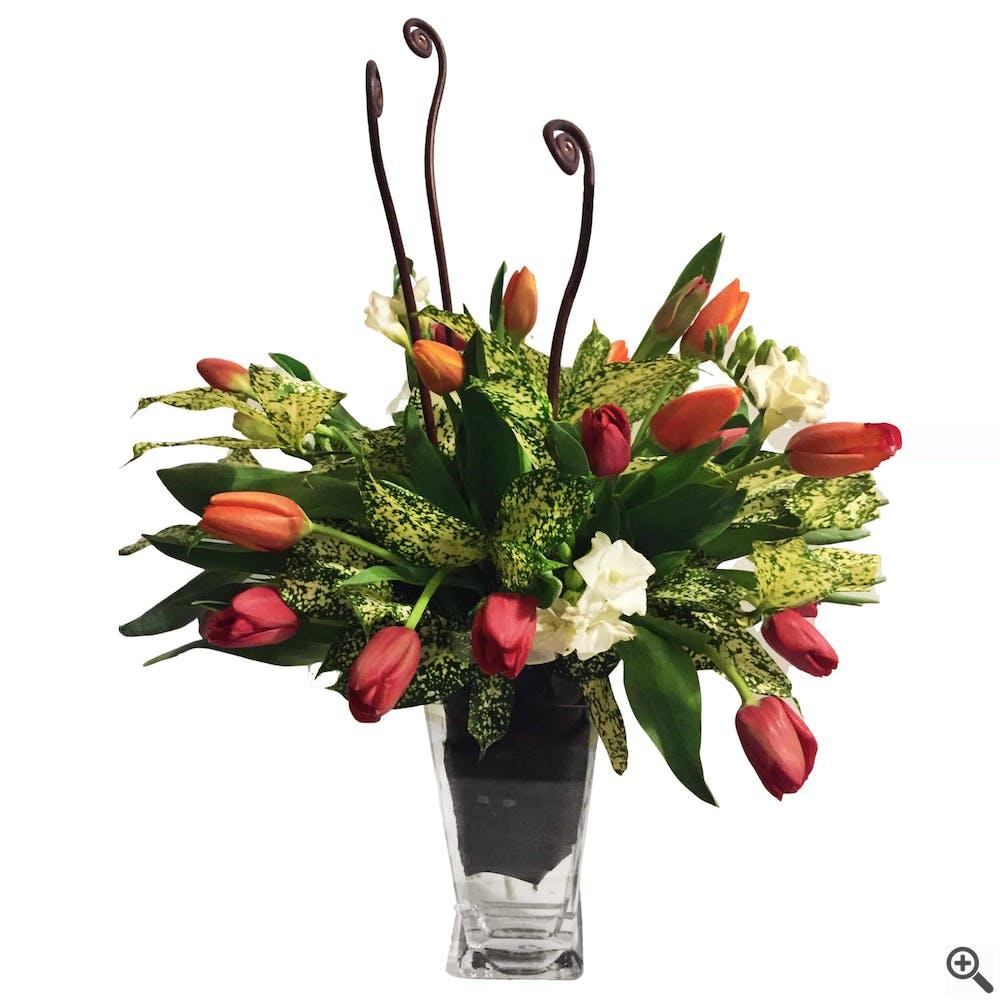 Spotted Tulip Flower Arrangement