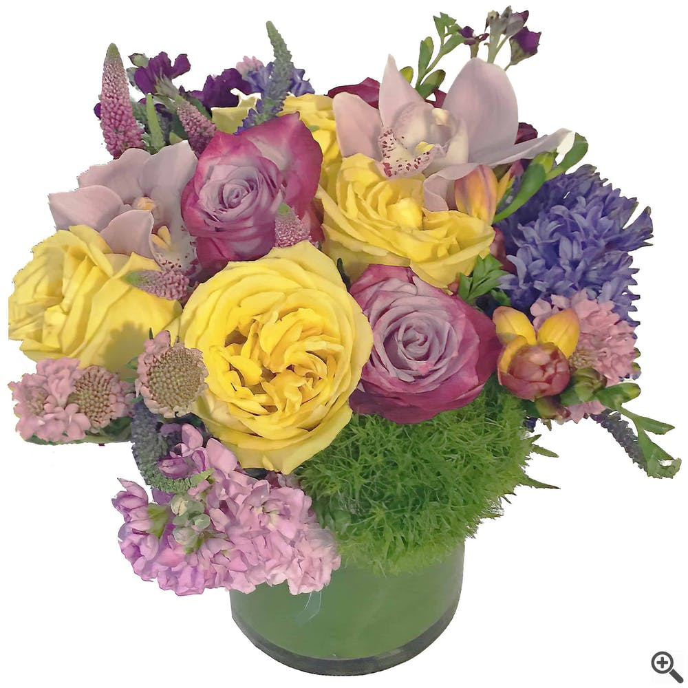 Purple Complement Flower Arrangement
